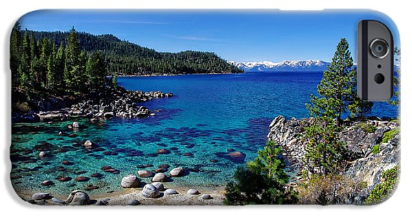Snow-covered Landscape Photographs iPhone Cases - Lake Tahoe Springscape iPhone Case by Scott McGuire