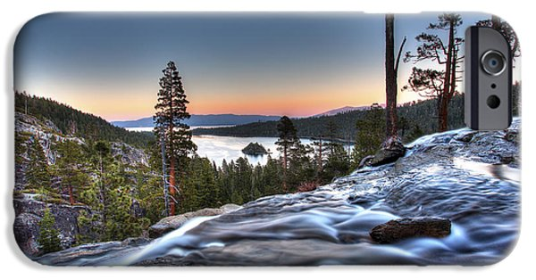 Lake Tahoe iPhone Cases - Lake Tahoe Sunset at Eagle Falls iPhone Case by Shawn Everhart