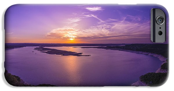 Recently Sold -  - River iPhone Cases - Lake Travis Sunset iPhone Case by David Morefield