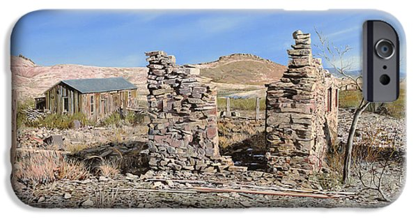 Town iPhone Cases - Lake Valley-New Mexico  iPhone Case by Guido Borelli