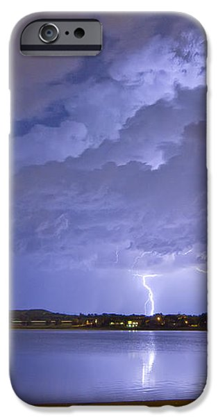 Lake View Lightning Thunderstorm iPhone Case by James BO  Insogna
