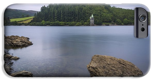 Field. Cloud iPhone Cases - Lake Vyrnwy iPhone Case by Ian Mitchell