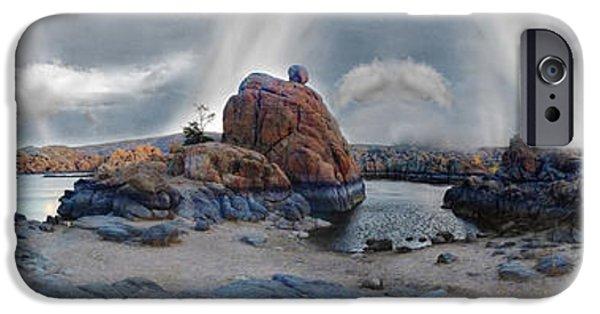 Watson Lake iPhone Cases - Lake Watson Mindscape iPhone Case by Wayne King