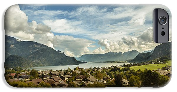 Austria iPhone Cases - Lake Wolfgang iPhone Case by Chris Fletcher