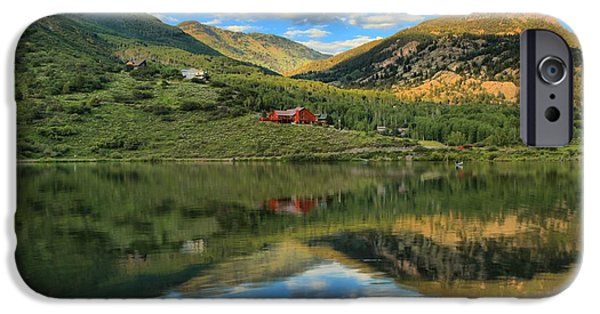 Beaver Lake iPhone Cases - Lakefront In Marble iPhone Case by Adam Jewell