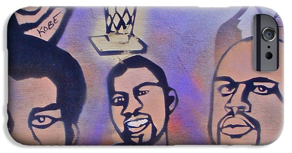 Kobe Paintings iPhone Cases - Lakers love Jerry Buss 1 iPhone Case by Tony B Conscious