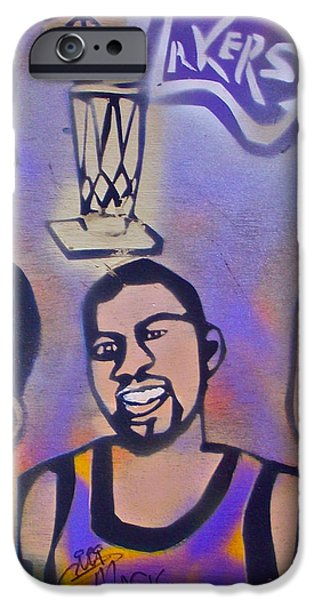 Lakers love Jerry Buss 1 iPhone Case by TONY B CONSCIOUS