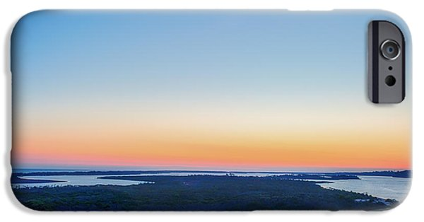 Port Town iPhone Cases - Lakes Entrance Sunset iPhone Case by Ray Warren