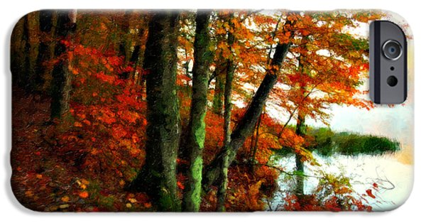 Tree Art Print iPhone Cases - Lakeside Beauty iPhone Case by Lianne Schneider