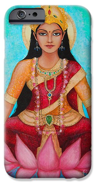 Hindu Goddess iPhone Cases - Lakshmi iPhone Case by Dori Hartley