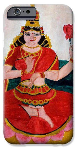 Hindu Goddess iPhone Cases - Lakshmi iPhone Case by Pratyasha Nithin