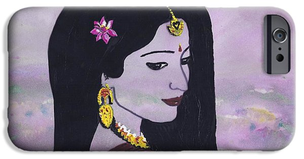 Hindu Goddess iPhone Cases - Lakshmi iPhone Case by Stacey Austin