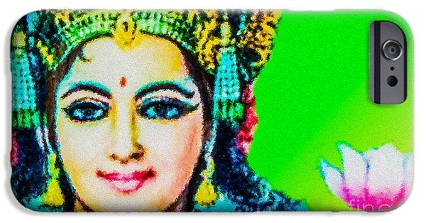 Hindu Goddess iPhone Cases - Lakshmis Love iPhone Case by Tarik Eltawil