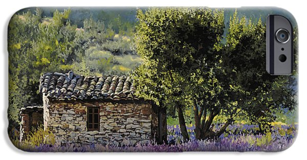 Lavender iPhone Cases - Lala Vanda iPhone Case by Guido Borelli