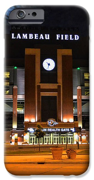 Lambeau Field at Night iPhone Case by Tommy Anderson