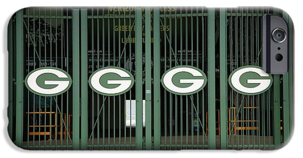Vince iPhone Cases - Lambeau Field - Green Bay Packers iPhone Case by Frank Romeo