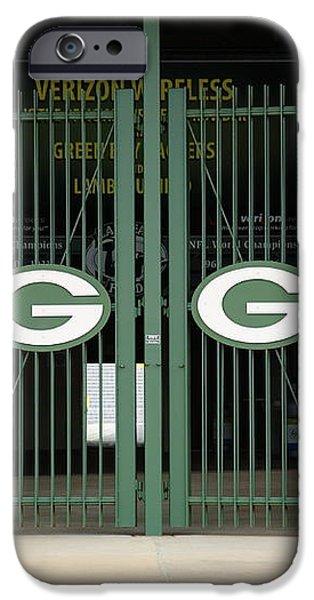 Lambeau Field - Green Bay Packers iPhone Case by Frank Romeo