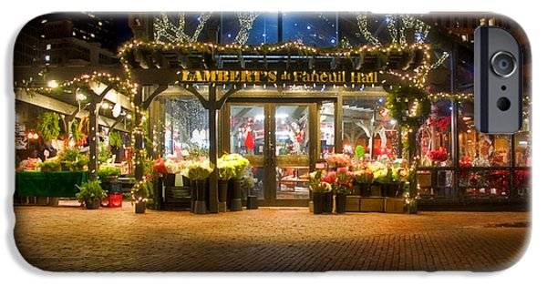 Tea Party iPhone Cases - Lamberts at Faneuil Hall iPhone Case by Joann Vitali