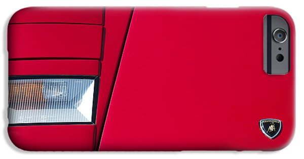 Recently Sold -  - Red Abstract iPhone Cases - Lambo iPhone Case by Tim Gainey