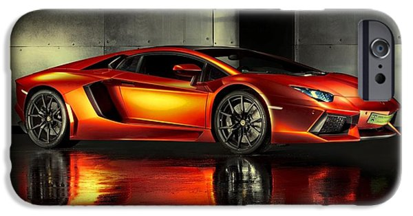Recently Sold -  - House iPhone Cases - Lamborghini Aventador iPhone Case by Movie Poster Prints