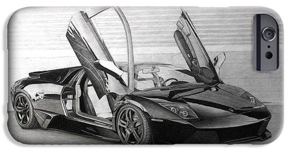 Sheets iPhone Cases - Lamborghini Gallardo iPhone Case by Gary Reising