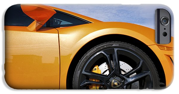 Disc iPhone Cases - Lamborghini Gallardo iPhone Case by Tim Gainey
