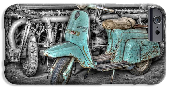 Abstract Digital Pyrography iPhone Cases - Lambretta iPhone Case by Mauro Celotti