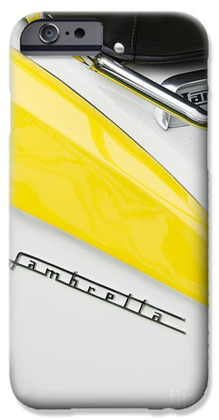 Retro Abstract iPhone Cases - Lambretta Scooter iPhone Case by Tim Gainey