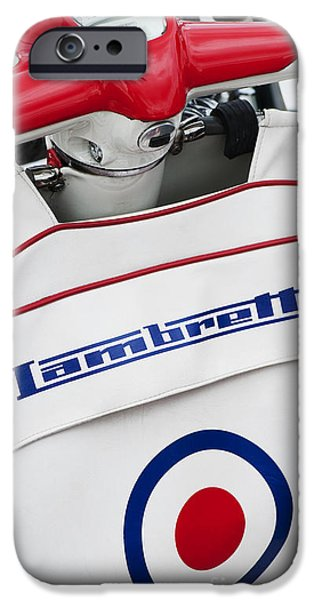 Retro Abstract iPhone Cases - Lambretta Style iPhone Case by Tim Gainey
