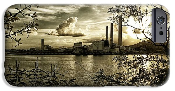 Nature Abstracts iPhone Cases - Lamma Island Power Station 1 iPhone Case by Yury Malkov