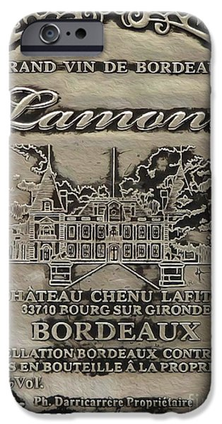 Antiques Mixed Media iPhone Cases - Lamont Grand Vin De Bordeaux  iPhone Case by Jon Neidert