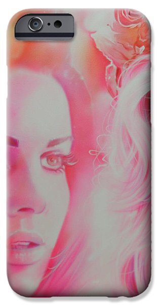 Celebrities Art iPhone Cases - Lana Del Rey iPhone Case by Christian Chapman Art