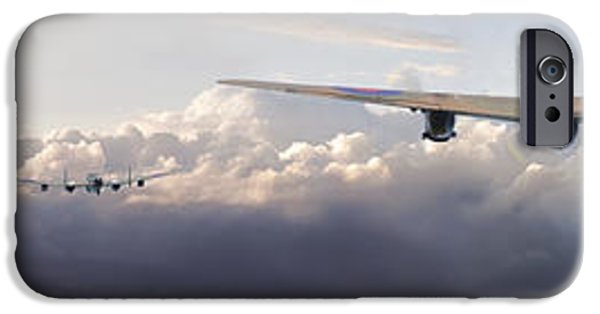 Flight iPhone Cases - Lancaster - Main Force Outbound iPhone Case by Pat Speirs