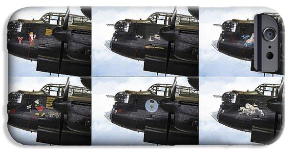Admiral Digital iPhone Cases - Lancaster Nose Art  iPhone Case by J Biggadike