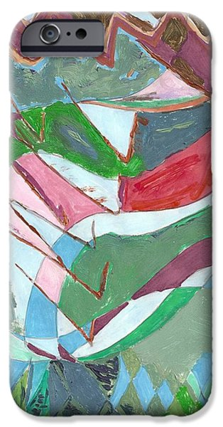 Arial View Paintings iPhone Cases - Land 3 iPhone Case by Howard Yosha
