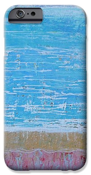 Abstract Seascape iPhone Cases - Land of Colour 15 iPhone Case by Elizabeth Langreiter