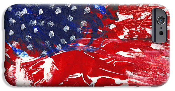 Recently Sold -  - 4th July iPhone Cases - Land of Liberty iPhone Case by Luz Elena Aponte
