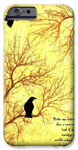 Crows Mixed Media iPhone Cases - Land Of The Dead iPhone Case by Dan Sproul