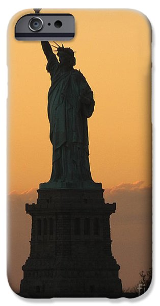 Freedom iPhone Cases - Land of the Free and the Brave iPhone Case by Emmy Marie Vickers