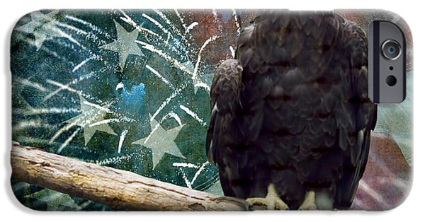 Freedom iPhone Cases - Land of the Free iPhone Case by Terry Weaver