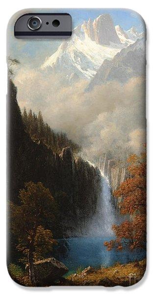 Steer Paintings iPhone Cases - Landers Peak Wyoming iPhone Case by Celestial Images