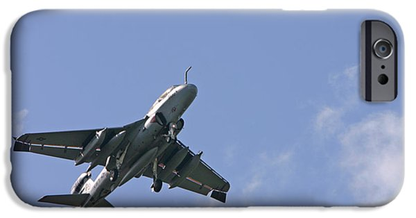 Jet Pyrography iPhone Cases - Landing at NAS Jax 002 iPhone Case by Spencer Studios