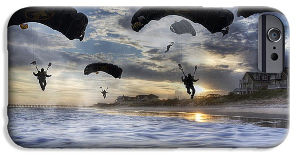 Topsail Island iPhone Cases - Landing at Sunset iPhone Case by Betsy A  Cutler