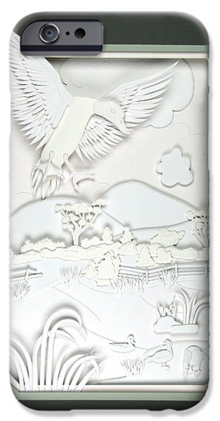 Birds Reliefs iPhone Cases - Landing Gear Down iPhone Case by John Hebb