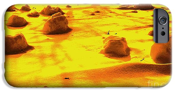 Michael Mixed Media iPhone Cases - Landing On Mars 3 iPhone Case by Mike Grubb