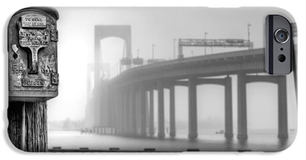 Bayside iPhone Cases - Landmarks BW iPhone Case by JC Findley