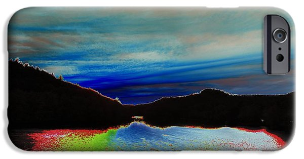 Androscoggin iPhone Cases - Landscape Abstract iPhone Case by Mike Breau