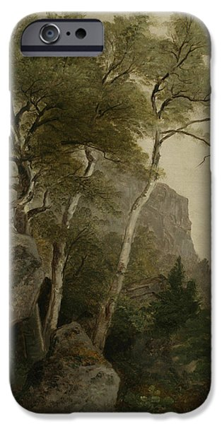 Hudson River iPhone Cases - Landscape iPhone Case by Asher Brown Durand