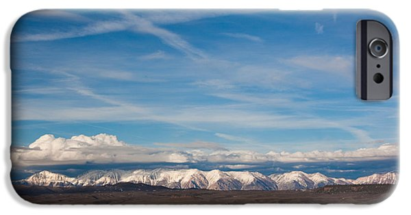 White Mountains iPhone Cases - Landscape By A Lake Crowley With White iPhone Case by Panoramic Images