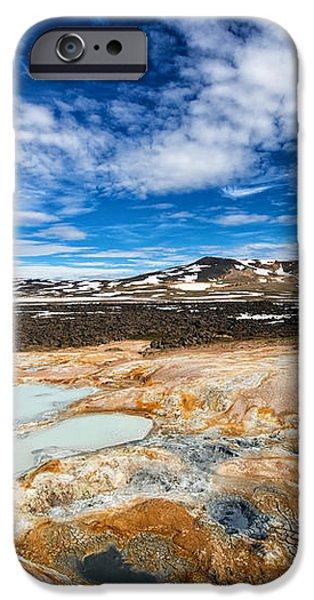 Landscape in North Iceland Leirhnjukur iPhone Case by Matthias Hauser